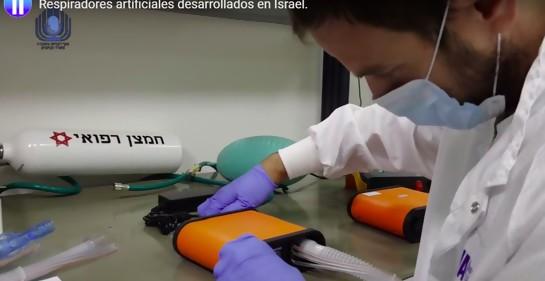 Israel comienza producción masiva de respiradores artificiales en fábricas locales