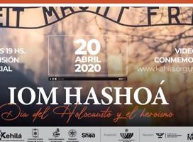 Compartimos el acto de Iom HaShoa de la Kehila, virtual, pero real