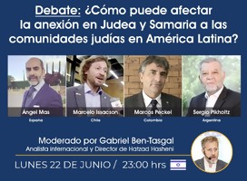 ¿Cómo puede afectar la anexión en Judea y Samaria a las conexiones judías de América Latina?