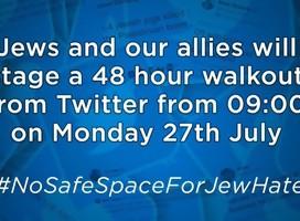 Por 48 horas desde hoy los twitteros judíos salen de twitter