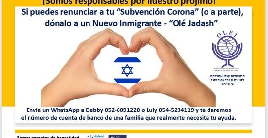Solidaridad con nuevos inmigrantes latinoamericanos en Israel