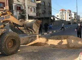 tractor trabajando en Gaza