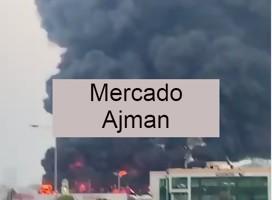Alerta en Emiratos Árabes Unidos por un gran incendio en la ciudad Ajmán
