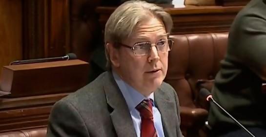 Ope Pasquet en el Parlamento