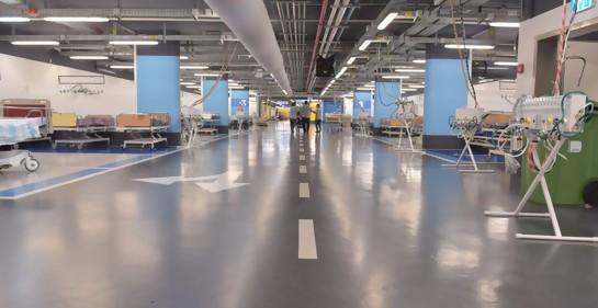 Hospital subterráneo de Emergencia en el Rambam, convertido en el mayor centro Coronavirus de Israel