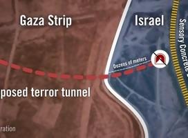 Ilustración de ruta del túnel de Gaza a Israel