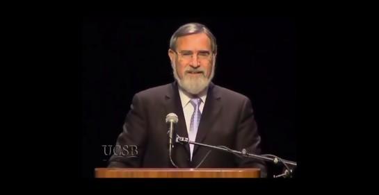 Otra pieza inolvidable del Rabino Jonathan Sacks
