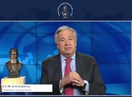 Guterres se refirió a la lucha contra el antisemitismo como algo profundamente personal para él