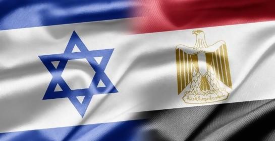 Las banderas de Israel y Egipto