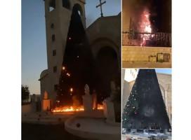 Preocupación entre los cristianos israelíes por el incendio de dos árboles de Navidad