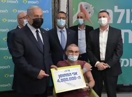 Israel llegó a 4 millones de vacunados