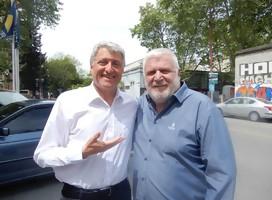 Sergio Gorzy y Alberto Sonsol--símbolos del periodismo deportivo uruguayo