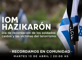 Hoy, Iom Hazikaron en Uruguay