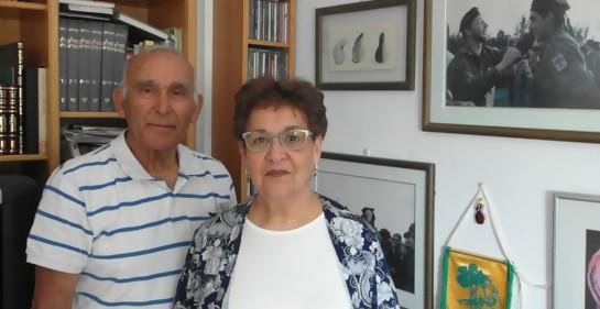 Ruti y Yair Levy en su casa en Jerusalem