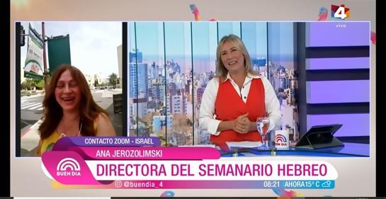 Detallada cobertura en Canal 4 sobre situación de Covid en Israel y donación israelí a Uruguay