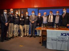 Agradecimiento a la delegación israelí  que trae conocimientos, experiencias y esperanza