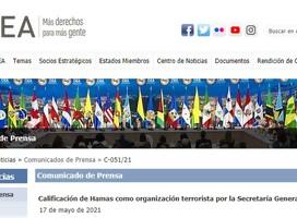 OEA califica a Hamas como organización terrorista
