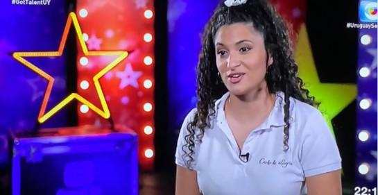 Esta es Lucía Abelar que nos emocionó cantando Hatikva en Got Talent Uruguay