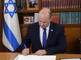 El nuevo Primer Ministro de Israel Naftali Bennett comenzó a trabajar