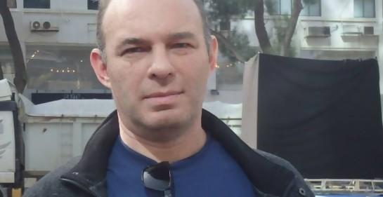 Javier Waldman en un acto años atrás junto a la Embajada argentina