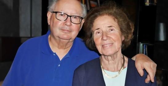 Con Serge y Beate Klarsfeld: la pareja cazadora de nazis.