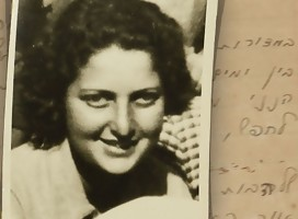 La jovencita Hana Szenes junto a uno de sus escritos