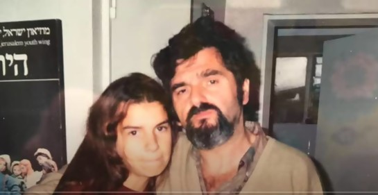 Dalia Gutmann junto a Ramón, su papá
