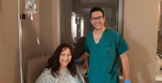 En el hospital Hadassah, bien cuidada por el singular mosaico israelí