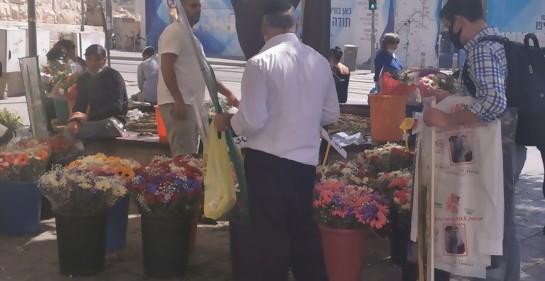 Israel, ambiente de fiestas judías en la calle