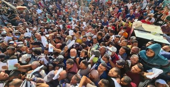 Multitudes de palestinos de Gaza quieren trabajar en Israel